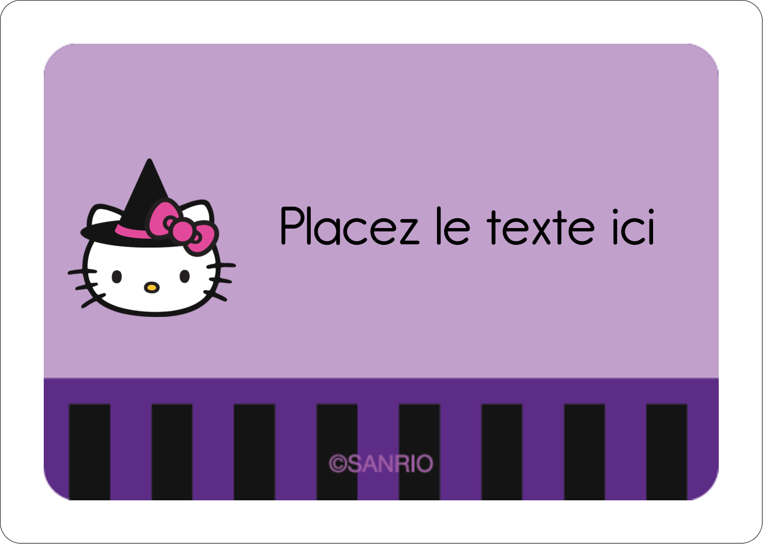 """1¾"""" x 1¼"""" Étiquettes D'Identification - Halloween Hello Kitty"""