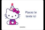 Hello Kitty Anniversaire Étiquettes D'Identification - gabarit prédéfini. <br/>Utilisez notre logiciel Avery Design & Print Online pour personnaliser facilement la conception.