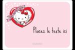 Hello Kitty Saint-Valentin Étiquettes D'Identification - gabarit prédéfini. <br/>Utilisez notre logiciel Avery Design & Print Online pour personnaliser facilement la conception.
