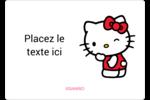 Clin d'œil Hello Kitty Étiquettes D'Identification - gabarit prédéfini. <br/>Utilisez notre logiciel Avery Design & Print Online pour personnaliser facilement la conception.