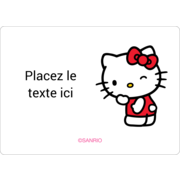 Clin d'œil Hello Kitty