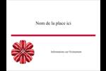 Rubans rouges Badges - gabarit prédéfini. <br/>Utilisez notre logiciel Avery Design & Print Online pour personnaliser facilement la conception.