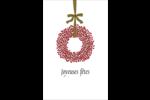 Couronnes de Noël Reliures - gabarit prédéfini. <br/>Utilisez notre logiciel Avery Design & Print Online pour personnaliser facilement la conception.