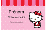 Clin d'œil Hello Kitty Badges - gabarit prédéfini. <br/>Utilisez notre logiciel Avery Design & Print Online pour personnaliser facilement la conception.
