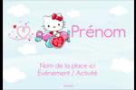 Hello Kitty Saint-Valentin - Mon cœur monte pour vous Badges - gabarit prédéfini. <br/>Utilisez notre logiciel Avery Design & Print Online pour personnaliser facilement la conception.