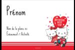 Hello Kitty et Cher Daniel Valentin Badges - gabarit prédéfini. <br/>Utilisez notre logiciel Avery Design & Print Online pour personnaliser facilement la conception.
