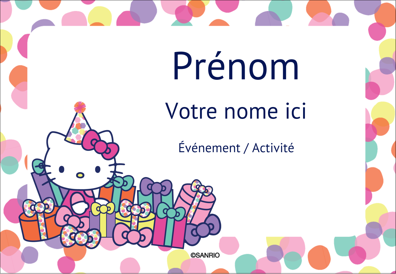 "3⅜"" x 2⅓"" Badges - Hello Kitty Anniversaire"