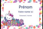 Hello Kitty Anniversaire Badges - gabarit prédéfini. <br/>Utilisez notre logiciel Avery Design & Print Online pour personnaliser facilement la conception.