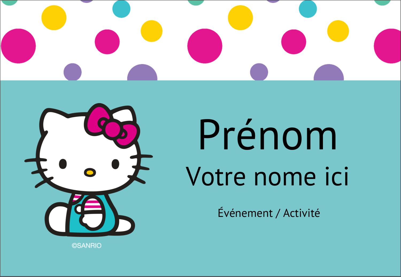 "3⅜"" x 2⅓"" Badges - Fête Hello Kitty"