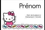 Hello Kitty Cœurs et Nœuds Badges - gabarit prédéfini. <br/>Utilisez notre logiciel Avery Design & Print Online pour personnaliser facilement la conception.
