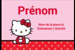 Hello Kitty super mignonne Badges - gabarit prédéfini. <br/>Utilisez notre logiciel Avery Design & Print Online pour personnaliser facilement la conception.
