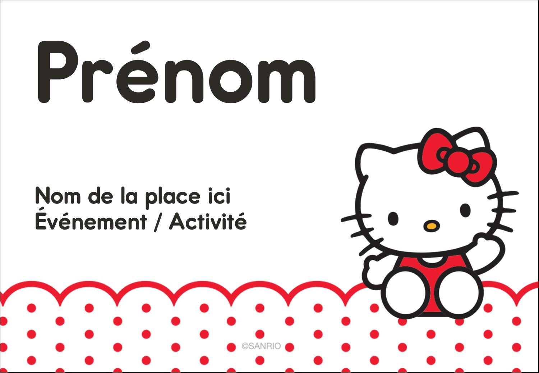 """1¼"""" Étiquettes à codage couleur - Salut Hello Kitty"""