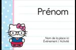Hello Kitty avec des lunettes Badges - gabarit prédéfini. <br/>Utilisez notre logiciel Avery Design & Print Online pour personnaliser facilement la conception.
