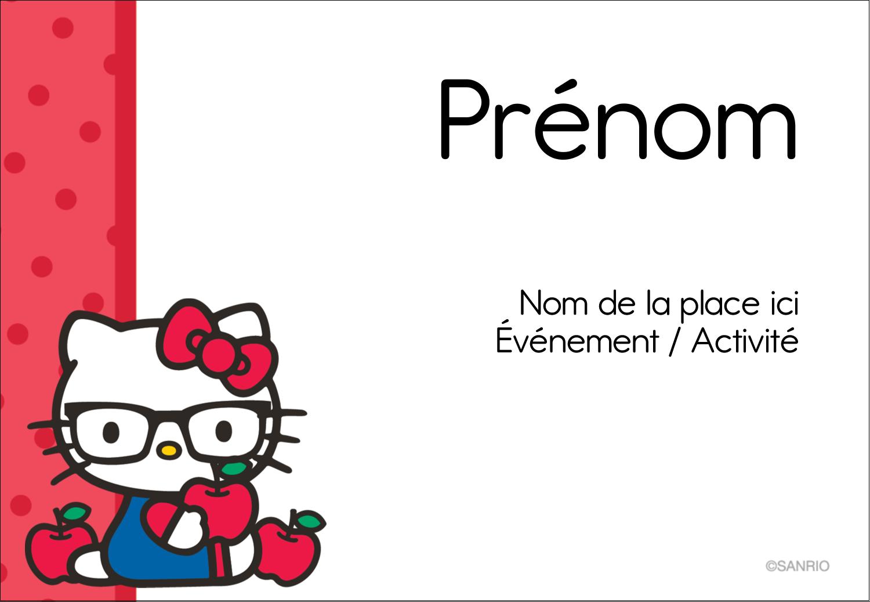 """3⅜"""" x 2⅓"""" Badges - Votre Ami Hello Kitty"""