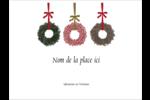 Couronnes de Noël Badges - gabarit prédéfini. <br/>Utilisez notre logiciel Avery Design & Print Online pour personnaliser facilement la conception.