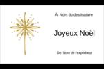 Étoile dorée de Bethléem Carte d'affaire - gabarit prédéfini. <br/>Utilisez notre logiciel Avery Design & Print Online pour personnaliser facilement la conception.