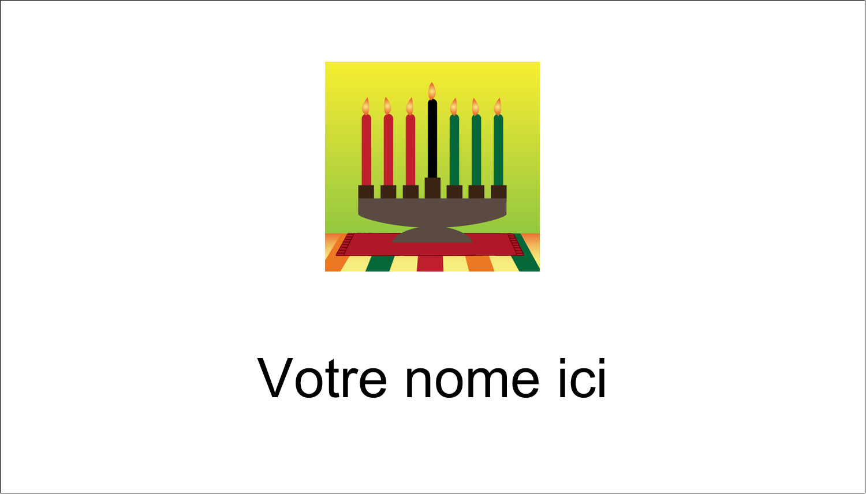 "2"" x 3½"" Carte d'affaire - Lueur verte de Kwanzaa"