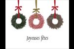 Couronnes de Noël Cartes Et Articles D'Artisanat Imprimables - gabarit prédéfini. <br/>Utilisez notre logiciel Avery Design & Print Online pour personnaliser facilement la conception.