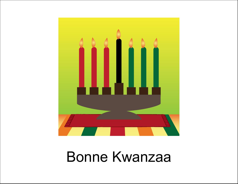 """8½"""" x 11"""" Cartes Et Articles D'Artisanat Imprimables - Lueur verte de Kwanzaa"""