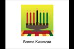 Lueur verte de Kwanzaa Cartes Et Articles D'Artisanat Imprimables - gabarit prédéfini. <br/>Utilisez notre logiciel Avery Design & Print Online pour personnaliser facilement la conception.