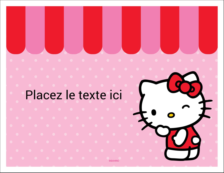 """8½"""" x 11"""" Cartes Et Articles D'Artisanat Imprimables - Clin d'œil Hello Kitty"""