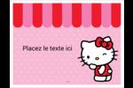 Clin d'œil Hello Kitty Cartes Et Articles D'Artisanat Imprimables - gabarit prédéfini. <br/>Utilisez notre logiciel Avery Design & Print Online pour personnaliser facilement la conception.