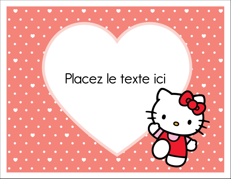 """8½"""" x 11"""" Cartes Et Articles D'Artisanat Imprimables - Nous aimons Hello Kitty"""