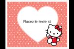 Nous aimons Hello Kitty Cartes Et Articles D'Artisanat Imprimables - gabarit prédéfini. <br/>Utilisez notre logiciel Avery Design & Print Online pour personnaliser facilement la conception.