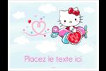 Hello Kitty Saint-Valentin - Mon cœur monte pour vous Cartes Et Articles D'Artisanat Imprimables - gabarit prédéfini. <br/>Utilisez notre logiciel Avery Design & Print Online pour personnaliser facilement la conception.