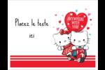Hello Kitty et Cher Daniel Valentin Cartes Et Articles D'Artisanat Imprimables - gabarit prédéfini. <br/>Utilisez notre logiciel Avery Design & Print Online pour personnaliser facilement la conception.