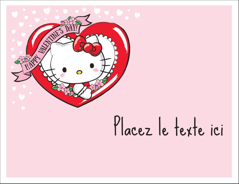 """8½"""" x 11"""" Cartes Et Articles D'Artisanat Imprimables - Hello Kitty Saint-Valentin"""