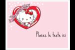 Hello Kitty Saint-Valentin Cartes Et Articles D'Artisanat Imprimables - gabarit prédéfini. <br/>Utilisez notre logiciel Avery Design & Print Online pour personnaliser facilement la conception.