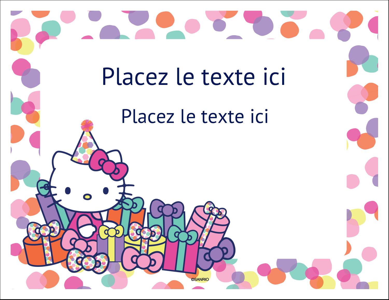 """8½"""" x 11"""" Cartes Et Articles D'Artisanat Imprimables - Hello Kitty Anniversaire"""