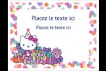 Hello Kitty Anniversaire Cartes Et Articles D'Artisanat Imprimables - gabarit prédéfini. <br/>Utilisez notre logiciel Avery Design & Print Online pour personnaliser facilement la conception.