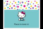 Fête Hello Kitty Cartes Et Articles D'Artisanat Imprimables - gabarit prédéfini. <br/>Utilisez notre logiciel Avery Design & Print Online pour personnaliser facilement la conception.