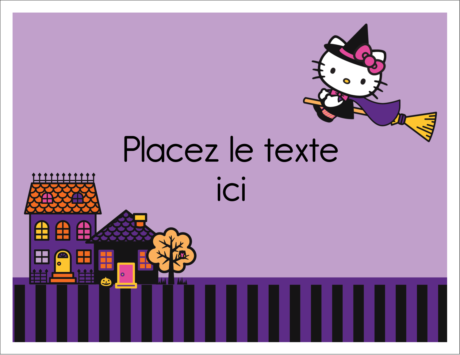 "8½"" x 11"" Cartes Et Articles D'Artisanat Imprimables - Halloween Hello Kitty"