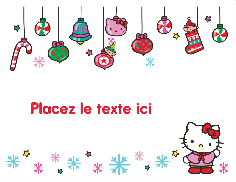 """8½"""" x 11"""" Cartes Et Articles D'Artisanat Imprimables - Hello Kitty Fêtes"""