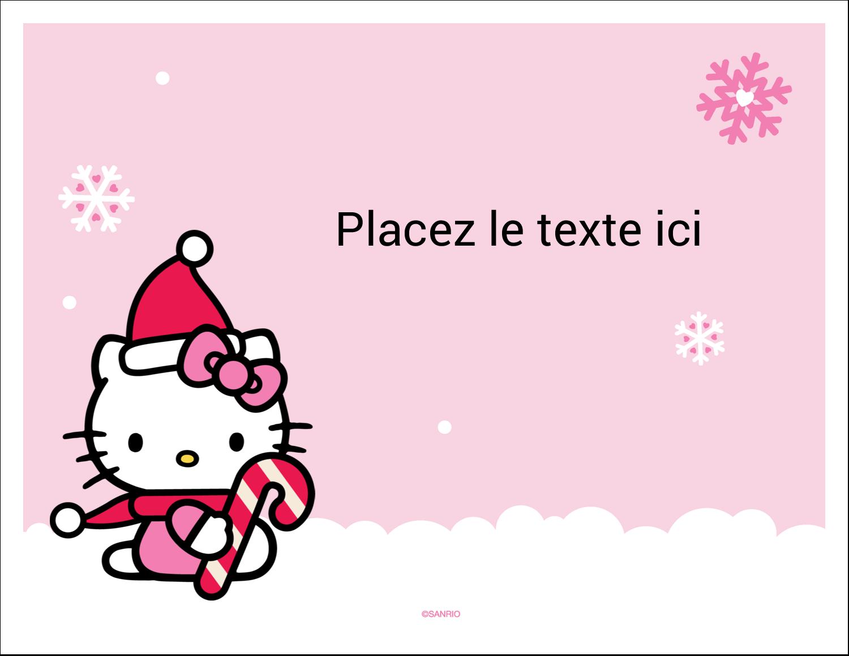 """8½"""" x 11"""" Cartes Et Articles D'Artisanat Imprimables - Canne en bonbon de Noël Hello Kitty"""