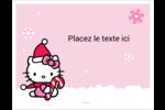 Canne en bonbon de Noël Hello Kitty Cartes Et Articles D'Artisanat Imprimables - gabarit prédéfini. <br/>Utilisez notre logiciel Avery Design & Print Online pour personnaliser facilement la conception.