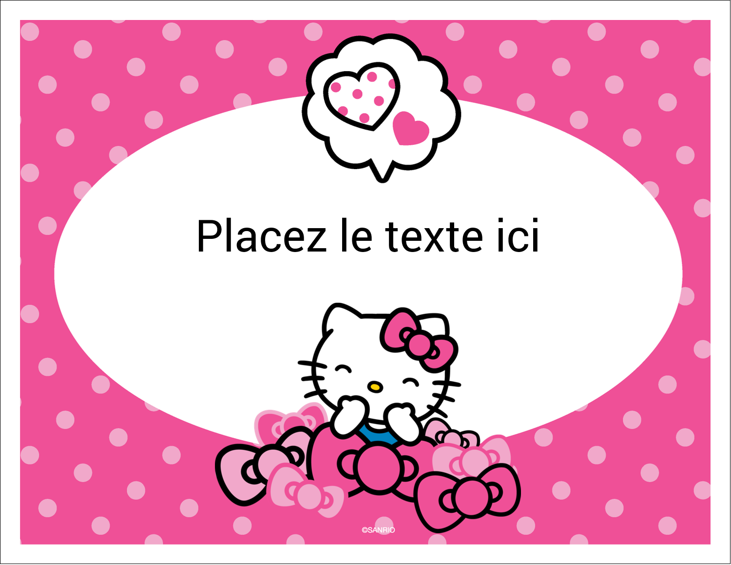 "8½"" x 11"" Cartes Et Articles D'Artisanat Imprimables - Hello Kitty rigole"