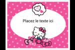 Hello Kitty rigole Cartes Et Articles D'Artisanat Imprimables - gabarit prédéfini. <br/>Utilisez notre logiciel Avery Design & Print Online pour personnaliser facilement la conception.