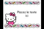 Hello Kitty Cœurs et Nœuds Cartes Et Articles D'Artisanat Imprimables - gabarit prédéfini. <br/>Utilisez notre logiciel Avery Design & Print Online pour personnaliser facilement la conception.