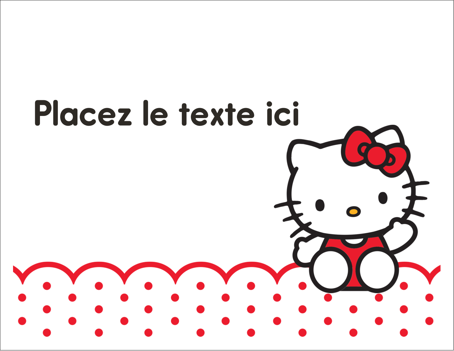 "8½"" x 11"" Cartes Et Articles D'Artisanat Imprimables - Salut Hello Kitty"
