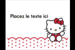 Salut Hello Kitty Cartes Et Articles D'Artisanat Imprimables - gabarit prédéfini. <br/>Utilisez notre logiciel Avery Design & Print Online pour personnaliser facilement la conception.