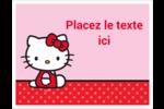 Hello Kitty super mignonne Cartes Et Articles D'Artisanat Imprimables - gabarit prédéfini. <br/>Utilisez notre logiciel Avery Design & Print Online pour personnaliser facilement la conception.
