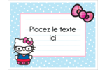Hello Kitty avec des lunettes Cartes Et Articles D'Artisanat Imprimables - gabarit prédéfini. <br/>Utilisez notre logiciel Avery Design & Print Online pour personnaliser facilement la conception.