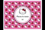 Hello Kitty adore les pommes! Cartes Et Articles D'Artisanat Imprimables - gabarit prédéfini. <br/>Utilisez notre logiciel Avery Design & Print Online pour personnaliser facilement la conception.