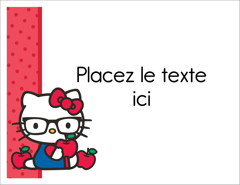 """8½"""" x 11"""" Cartes Et Articles D'Artisanat Imprimables - Votre Ami Hello Kitty"""