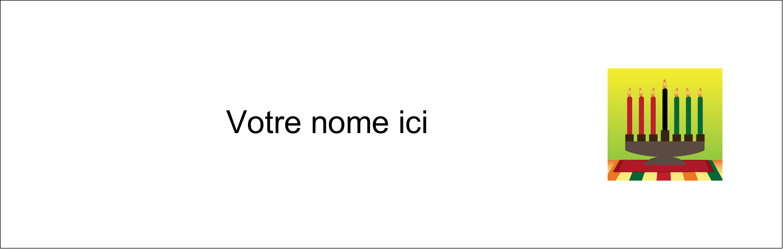 "4¼"" x 5½"" Carte de note - Lueur verte de Kwanzaa"