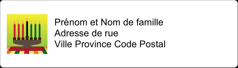 """1"""" x 2⅝"""" Étiquettes D'Adresse - Lueur verte de Kwanzaa"""